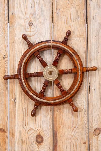 Deko Steuerrad nautisch antik Holz