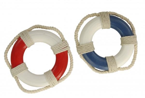 Mini-Rettungsringe, blau oder rot