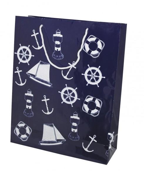 Geschenktüte marineblau gross
