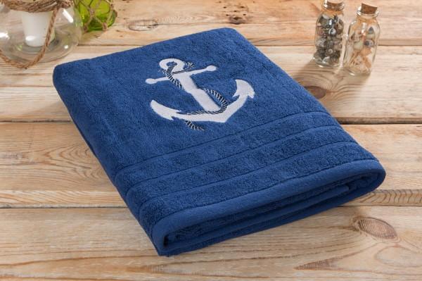 Duschtuch blau Anker online bestellen.   mare-me. Maritime ... e7bdf8acfd