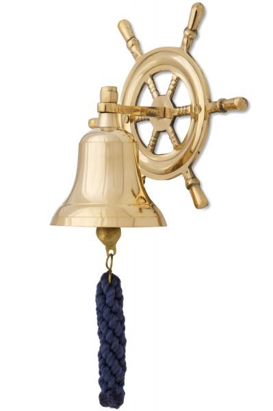 Schiffsglocke, Steuerrad, 12cm