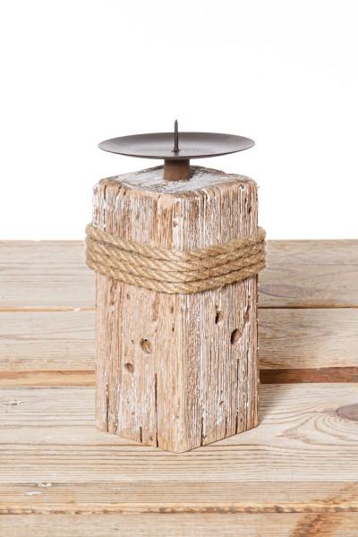 Holz Kerzenständer klein