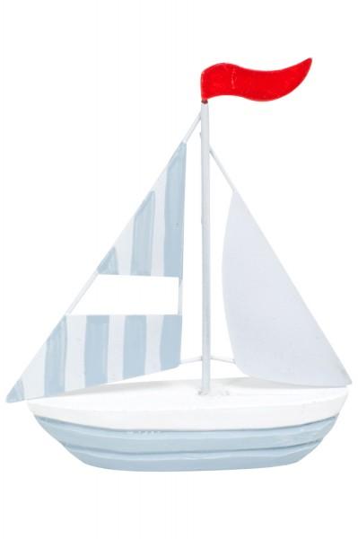 Deko Segelboot türkis, klein
