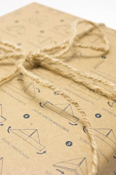 Geschenkpapier Papierschiffchen