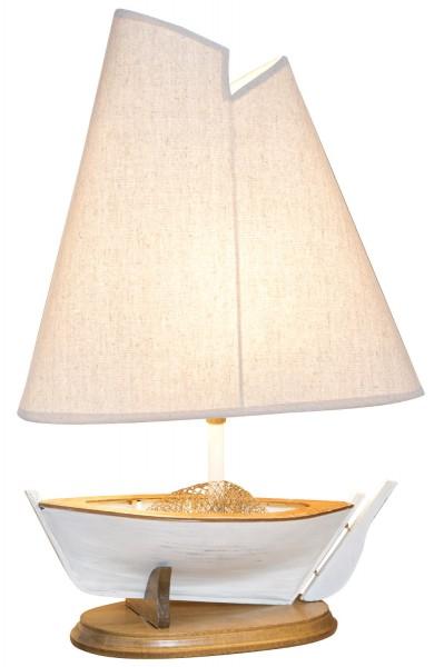 Segelboot Lampe weiß