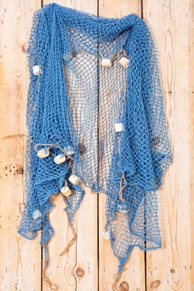 Fischernetz, 5qm, blau