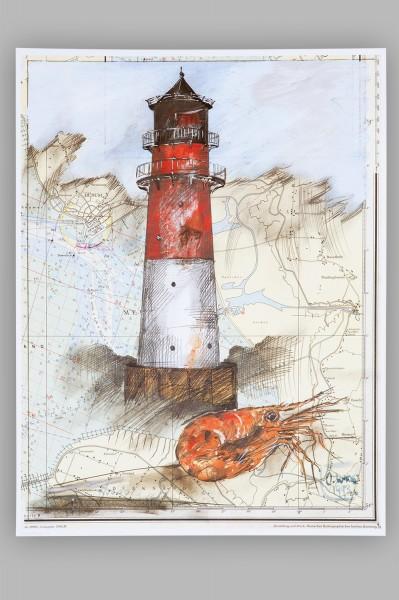 Kunstdruck Leuchtturm Büsum