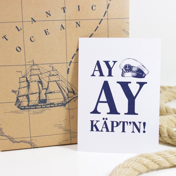 Postkarte Ay, Ay Käptn