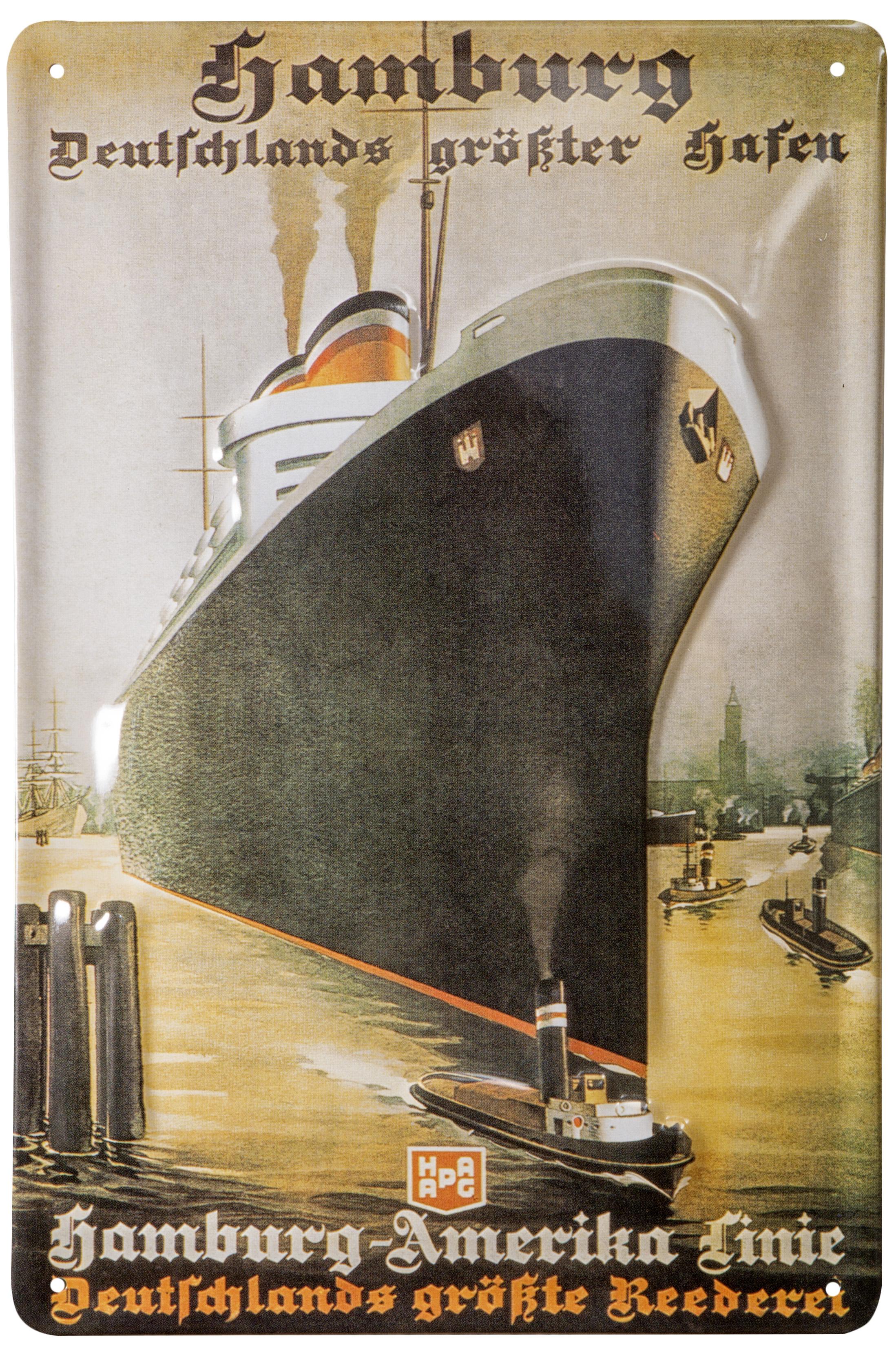 Nostalgieschild hamburg hafen nostalgieschilder for Maritime wohnaccessoires