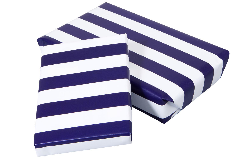 geschenkpapier blau wei gestreift kaufen online mare me maritime dekoration geschenke. Black Bedroom Furniture Sets. Home Design Ideas