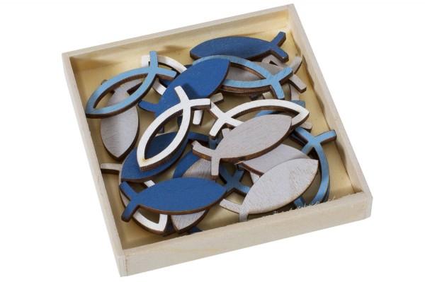 Streudeko Fische Holzbox