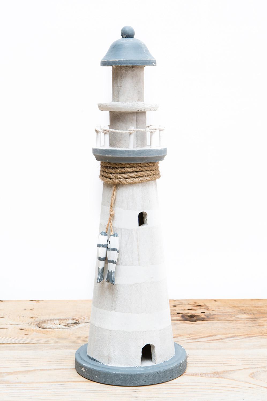 deko leuchtturm grau fisch g nstig online kaufen mare me maritime dekoration geschenke. Black Bedroom Furniture Sets. Home Design Ideas