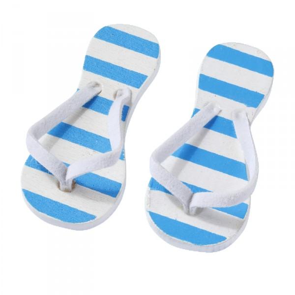 Deko Flip Flops blau gestreift