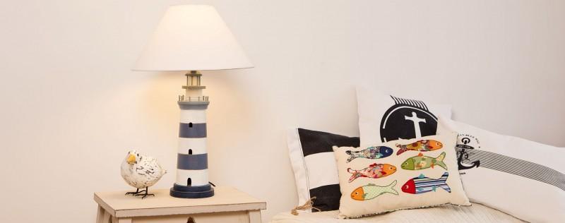 perfekt für die maritime Dekoration Bankerlampe Messing /& Glas blau
