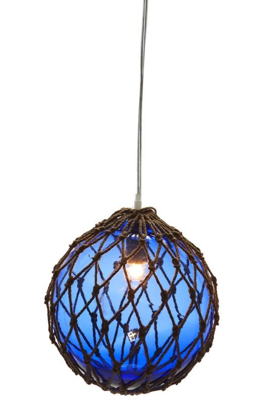 lampe fischerkugel blau online bestellen bei mare me. Black Bedroom Furniture Sets. Home Design Ideas