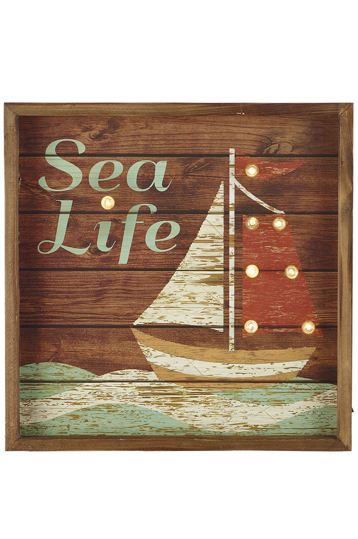 Bild segelschiff beleuchtet wanddeko einrichtung maritim wohnen mare me maritime - Wanddeko beleuchtet ...