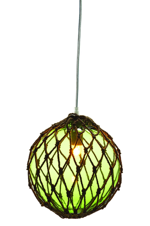 gr ne fischerkugel lampe fischerkugeln deko klassiker. Black Bedroom Furniture Sets. Home Design Ideas