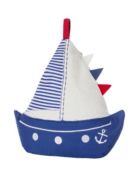 Türstopper Segelboot blau weiß rot
