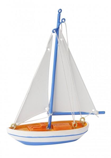 Dekosegelschiff blau weiß