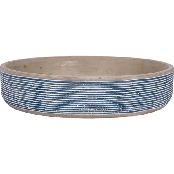 Beton Deko Schale blau weiß 30cm