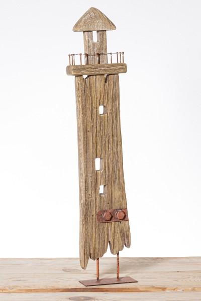Holz Leuchtturm Deko