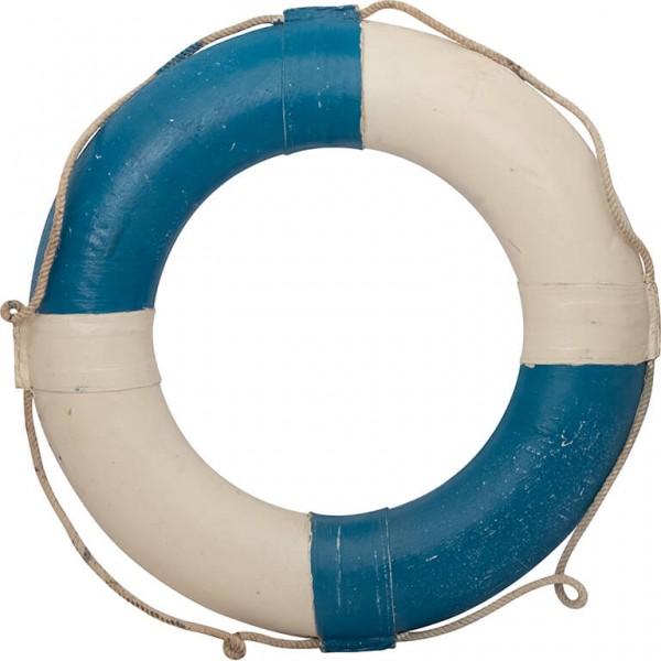 DEKO-RETTUNGSRING 30 cm weiss-blau