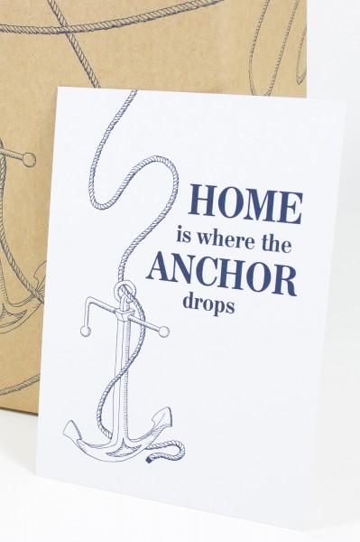 Postkarte Home is...
