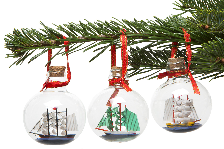 Christbaumkugeln segelschiffe 3er set christbaumschmuck deko nach themen maritim - Christbaumschmuck leuchtturm ...