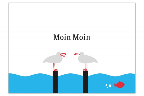 Postkarte von Chatlab Moin Moin