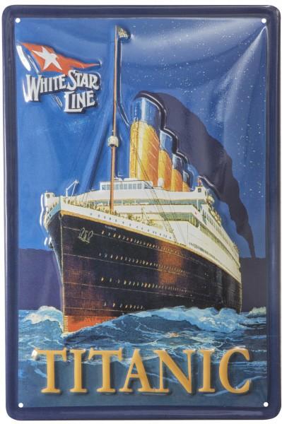 Blechschild titanic nostalgieschilder wohnaccessoires for Maritime wohnaccessoires