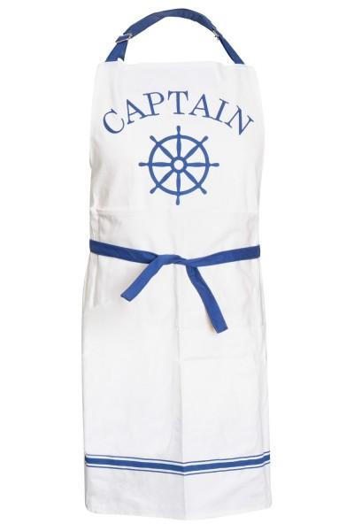 Weiße Küchenschürze Captain