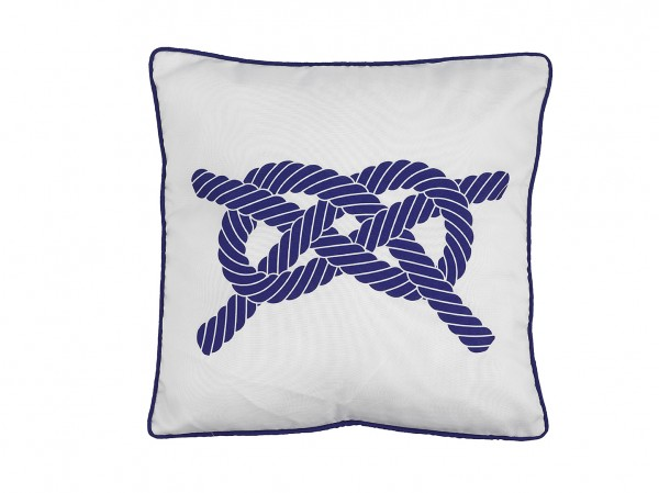 Kissen Knoten Weiß Blau 2 Dekokissen Sofakissen Einrichtung