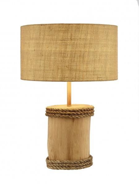 lampe holzstamm tischlampen maritime lampen maritim wohnen mare me maritime dekoration. Black Bedroom Furniture Sets. Home Design Ideas