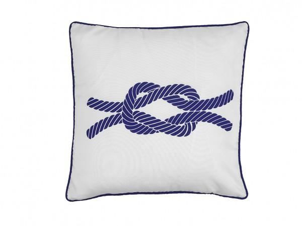 Kissen Knoten Weiß Blau Dekokissen Sofakissen Einrichtung