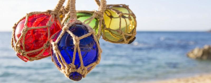 Deko fischernetz deko rettungsring deko strandk rbe Maritime deko figuren