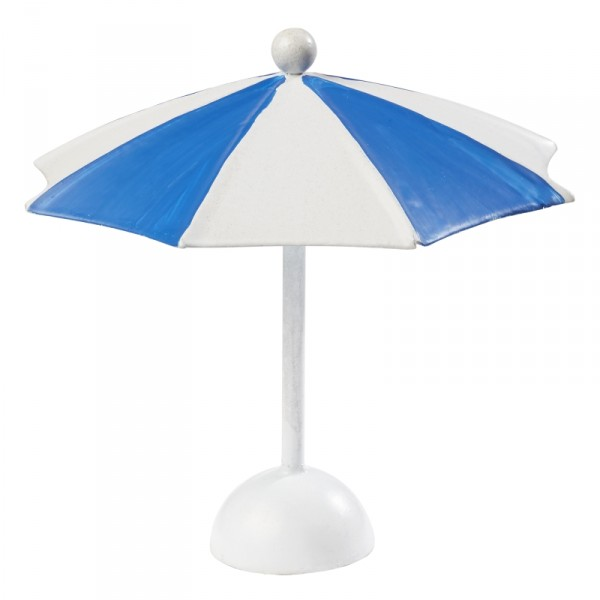 Mini Sonnenschirm Deko blau weiss