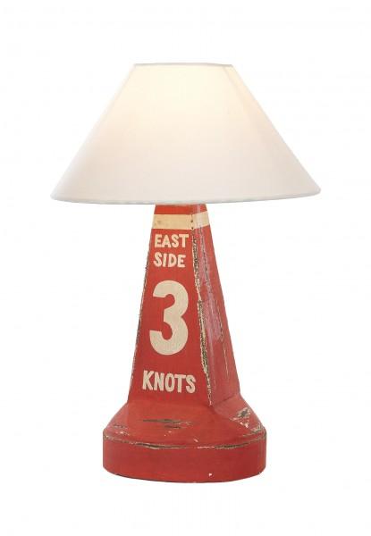 Lampe Holzboje 3 knots rot