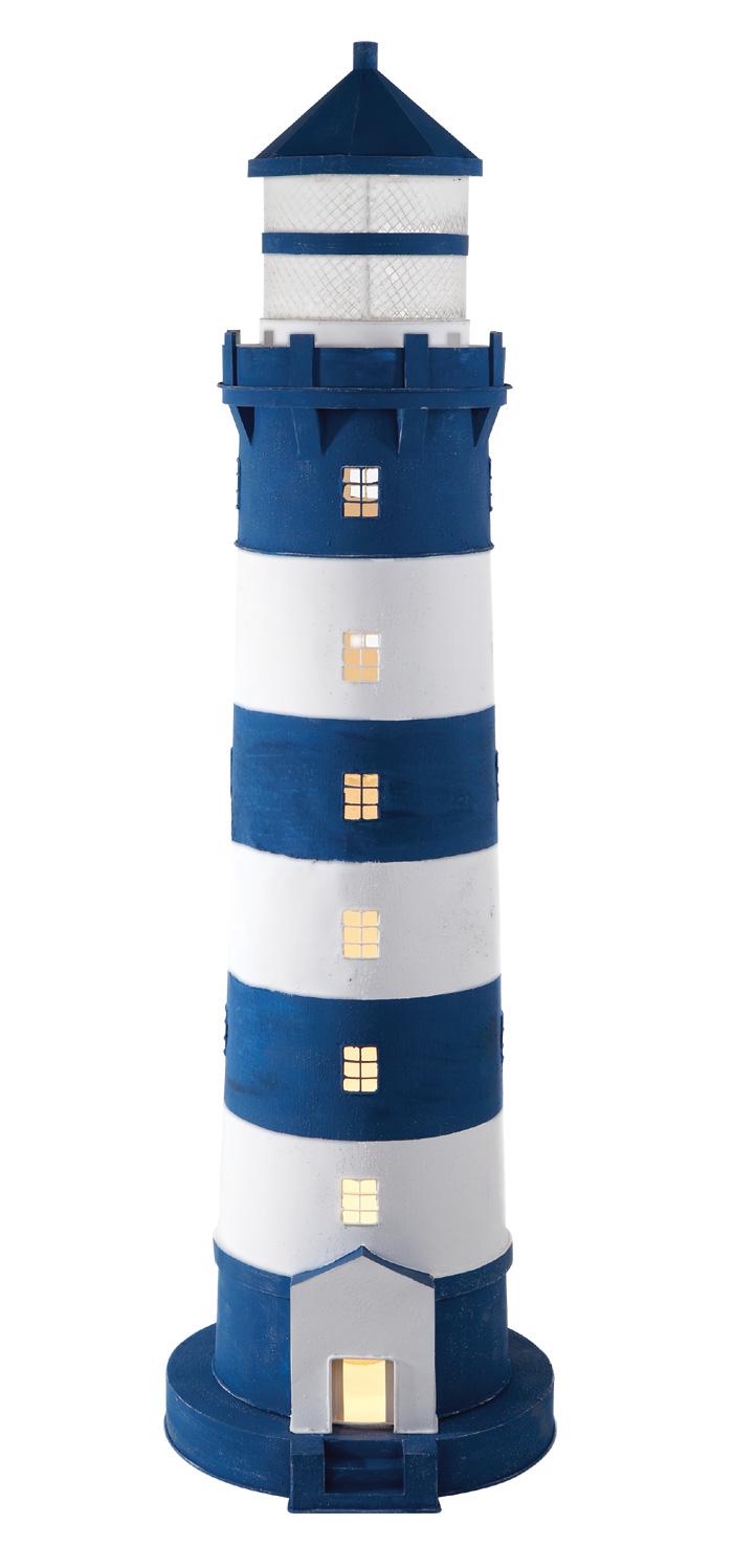 gro er deko leuchtturm blau wei leuchtt rme aus metall leuchtturm modelle maritim. Black Bedroom Furniture Sets. Home Design Ideas