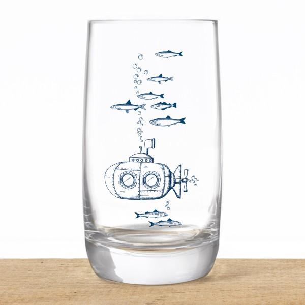 Kristallglas Glas U-Boot