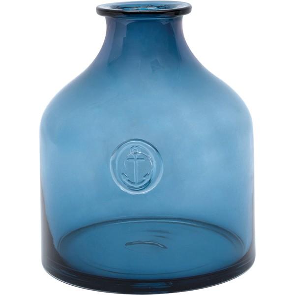 Blaue Glasflasche klein