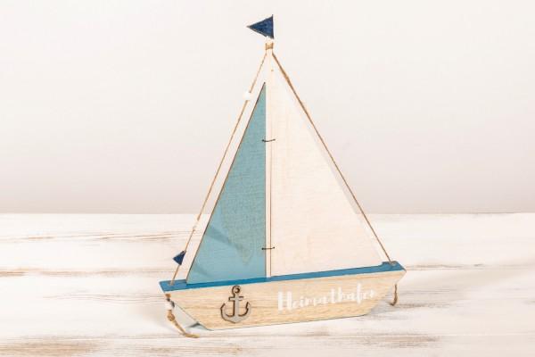 Segelschiff Holz mit Heimathafen