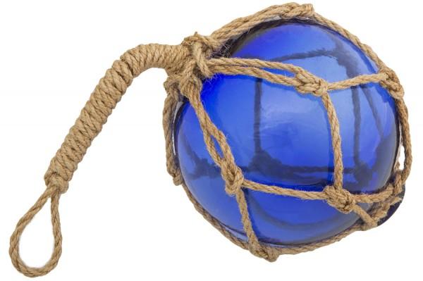 Fischerkugel Glas blau, 10cm