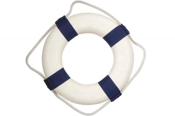 Blau weiss, Rettungsring Deko, 50cm, kein Aufdruck