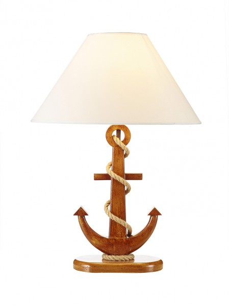 lampe anker holz natur - Maritime Lampen