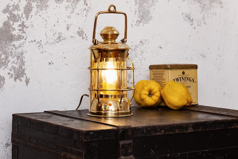 Nelsonlampe elektrisch 28cm kaj tenlampen schiffslampen maritime klassiker mare me - Holzpaddel deko ...