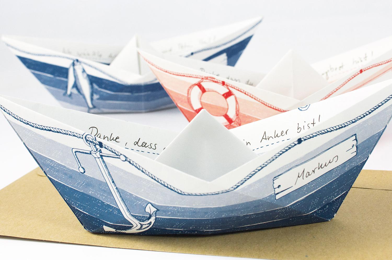 Grussboote 3 er set maritime geschenkideen maritimes - Holzpaddel deko ...