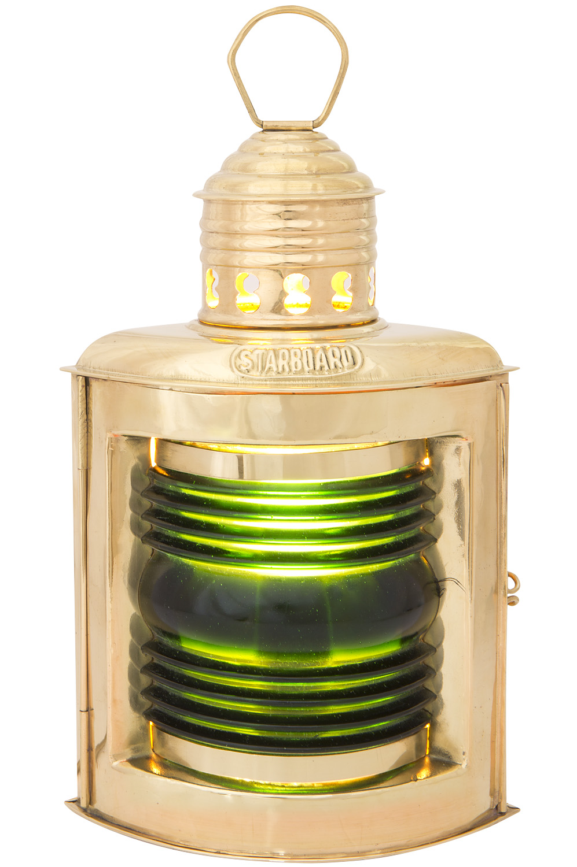 Steuerbordlampe elektrisch 23cm positionslampen schiffslampen maritime klassiker mare - Holzpaddel deko ...