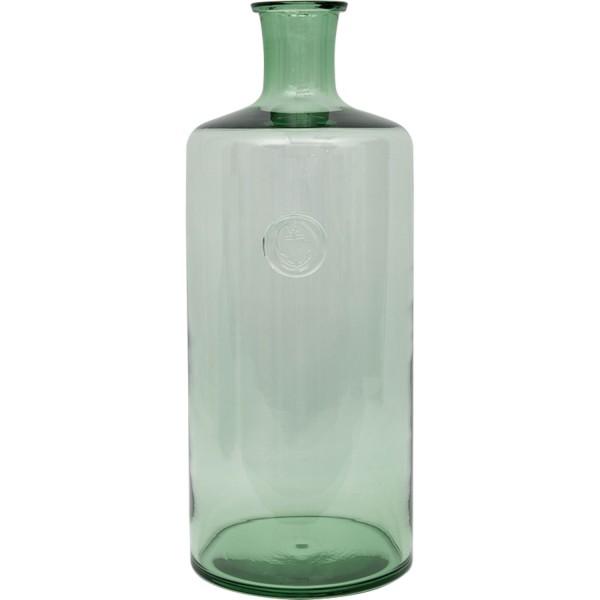 Grüne Flasche Glasvase