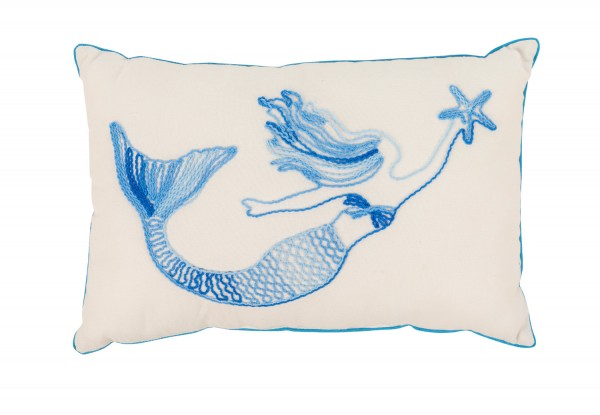 Blaues Kissen Meerjungfrau