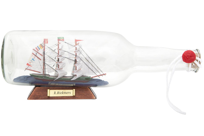 Flaschenschiff rickmer rickmers 07l standard buddelschiffe flaschenschiffe maritime - Holzpaddel deko ...